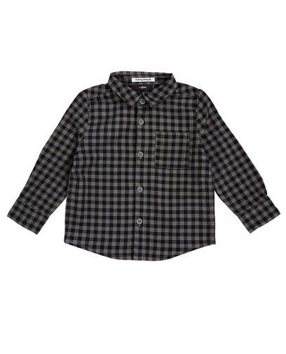 Chemise kaki à carreaux